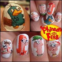phineas and ferb nails by Ninails