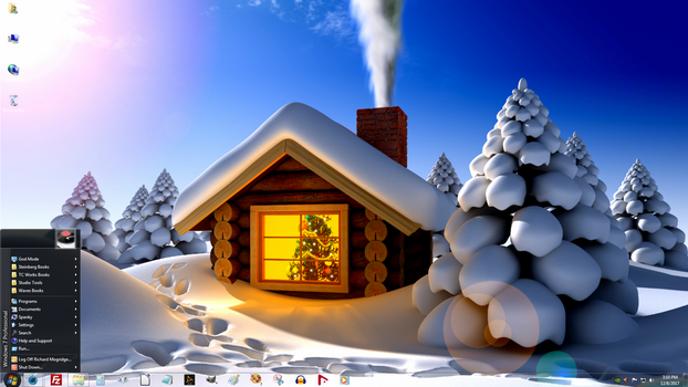 Windows 7 on Spanky - Snowed In at the Station by slowdog294