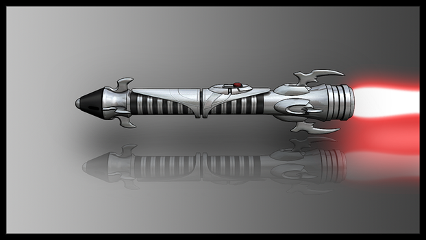 Another Sith Lightsaber Render by broodofevil