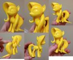 3D Printed Fluttershy Vapor Treated by Athey