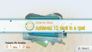 Calorie burning Goal Tenth day in a Row by Keyotea