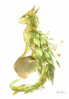 watercolor dragon 2 by sandara