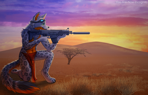 YCH for LeftyilPonderosa - Desert night by YouAreNowIncognito