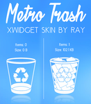 Windows Metro Trash XWidget Skin by Ray by Raiiy