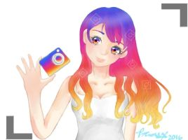 If Instagram was a girl.... by Pauli-Potato