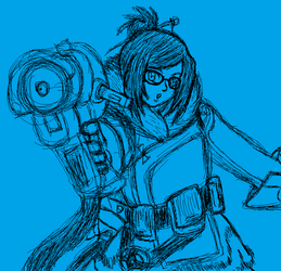 Overwatch - Mei Sketch by Twardz