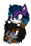 Darkness x Trey Chibi journal buddies detailed eye by Slawterthewolf