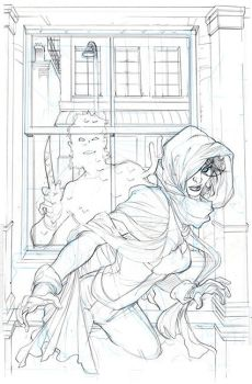 Ghost #3 Cover Pencils by TerryDodson