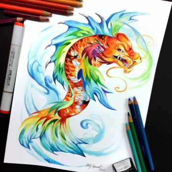 Koi Dragon by Lucky978