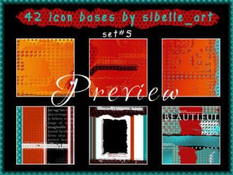 Set 5: 42 icon bases 100x100 by Sibelle