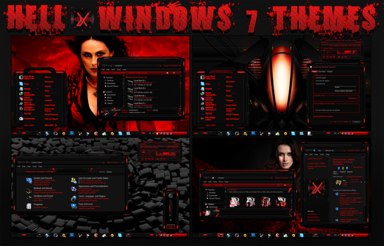 HELL BY HELL-X [windows 7 themes by HELL-X-HELL