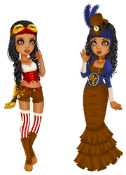 Steampunk Sisters by Yume-Inc