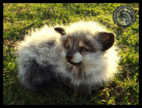 SOLD HAND MADE Poseable Baby Arctic Fox Kit! by Wood-Splitter-Lee