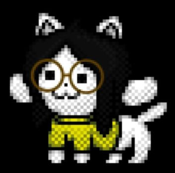 Amarillo the Temmie by triforceGAMR