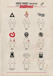 Video Games character personal tattoos - 01 by newrobotz