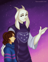 Frisk and Toriel by 7Lisa