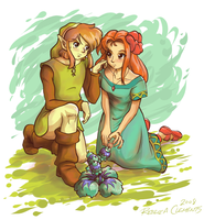 Link and Marin by KinokoFry