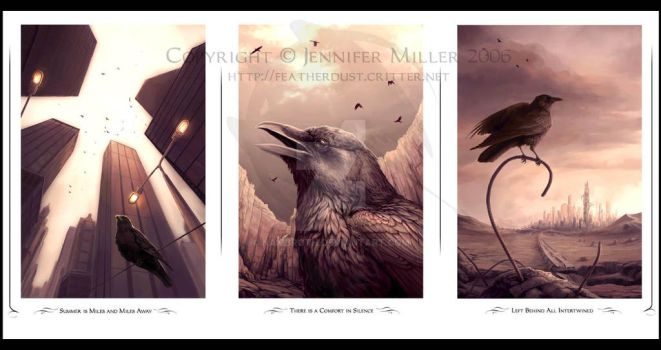 Corvid Triptych by Nambroth