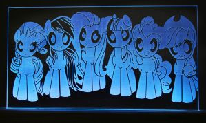 Mane 6 Acrylic LED Picture by steeph-k