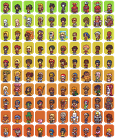 100 Hero oh Hero character sprites by Neoriceisgood