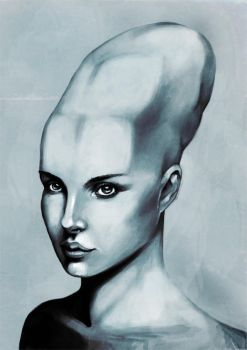 Female With Elongated Skull by spectrographic