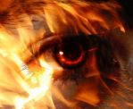 eye on fire by Alkhumeia