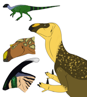 Ornithopods by StygimolochSpinifer