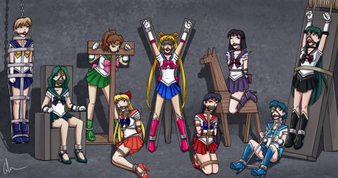 Sailor Scouts Defeated by SozokuReed