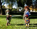 Link Challenges Sora to a Duel by Utukki-Girl