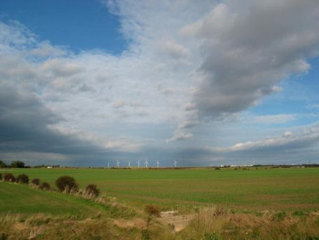 Wind Turbines at Out Newton by moonhare77