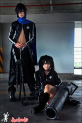 MikuxKAITO-Black rock shooter by Onnies
