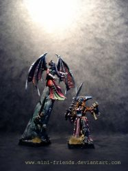 Vampire Lord with Vampire converted Lady :) by mini-friends