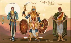 Commission: Egyptian Fantasy Designs by Hassly