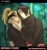 Deidara X Itachi +COMMISSION+ by DKSTUDIOS05