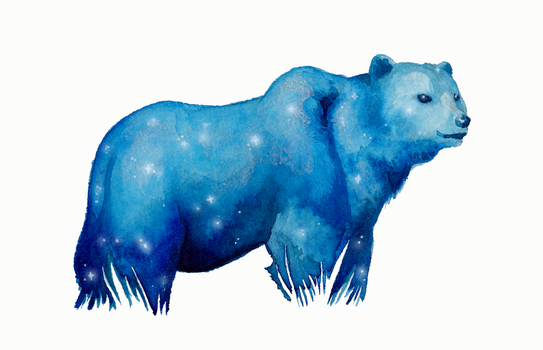 :Gift: Astral Bear by Laura-Vi