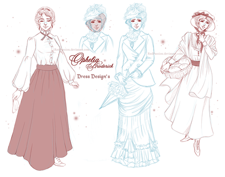Penny Dreadful - Ophelia Dresses Sheet by RedPassion