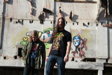 Band picture in front of demolished factory (pic1) by GreatC0ldDistance