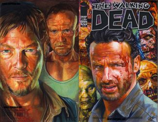Walking Dead 109 comic cover commission three by choffman36