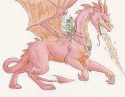 The red dragon by Amayensis