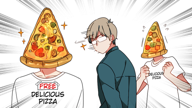 Distracted by Pizza by Cioccolatodorima