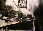 Kitchen Table Charcoal by The12thtaxi