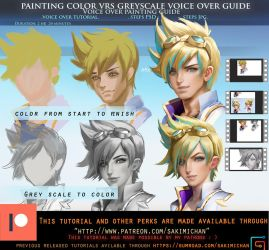 Painting color vrs painting greyscale voice over by sakimichan