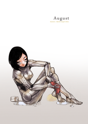 Pin-Up Calendar [August] - Alita/Gally by pu