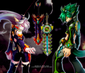 GRAND CHASE Eclipse versus Grandark by D-Strawberrypie