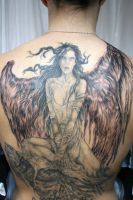 Angel Big Wings Tattoo by 2Face-Tattoo