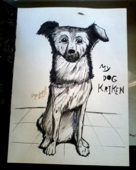 Art Journal entry 01 - My Dog Kriken by lady-storykeeper