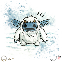 Drawctober 2018 #26 - A well respected Yeti by Glass-no-E
