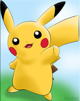 Coloring: Pikachu by CazyBunny