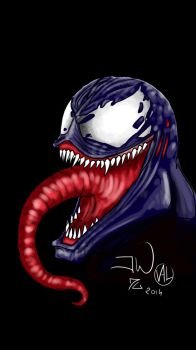 Venom smartphone drawing  by Zappan