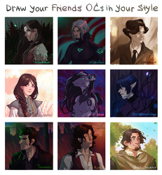 draw your friends OCs in your style by ZincumChan